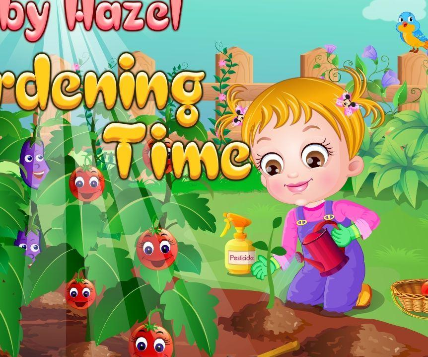 baby hazel gardening time baby hazel games. Black Bedroom Furniture Sets. Home Design Ideas